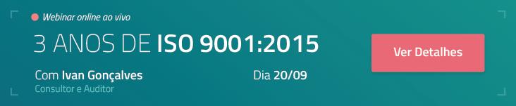 Webinar 3 anos de ISO 9001:2015